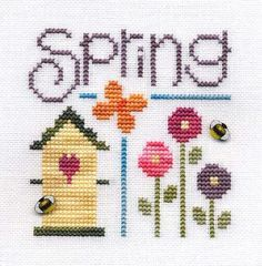 Spring by Carol Draper (Designer - Lizzie Kate. From Cross Stitch Crazy magazine May 2005)