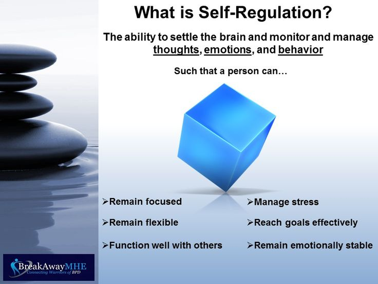 It is essential for a person with Borderline Personality Disorder to learn how and choose to self-regulate in order to function as needed in real life.