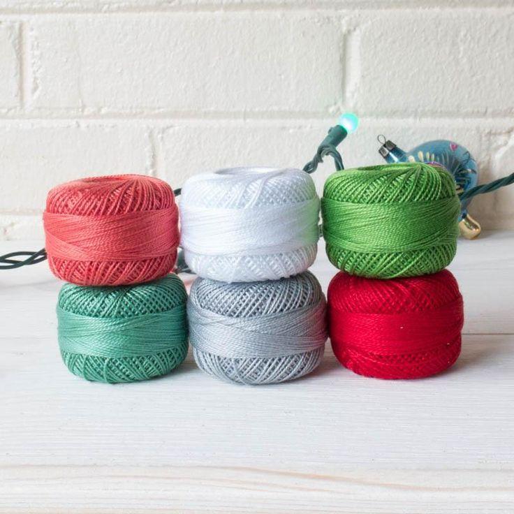 Perle Cotton Thread Set - Modern Christmas