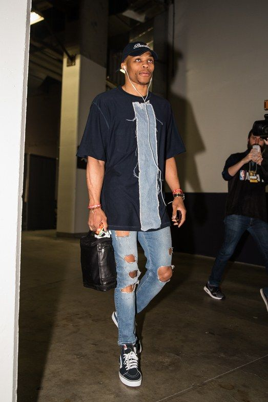 Every gameday outfit Russell Westbrook wore for the 2016 playoffs (xpost /r/nba) #styled247