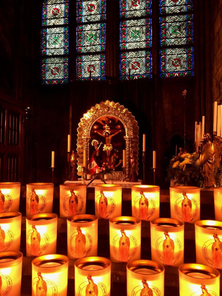#God #Candles #Church #Basilica #NotreDame #Paris #France