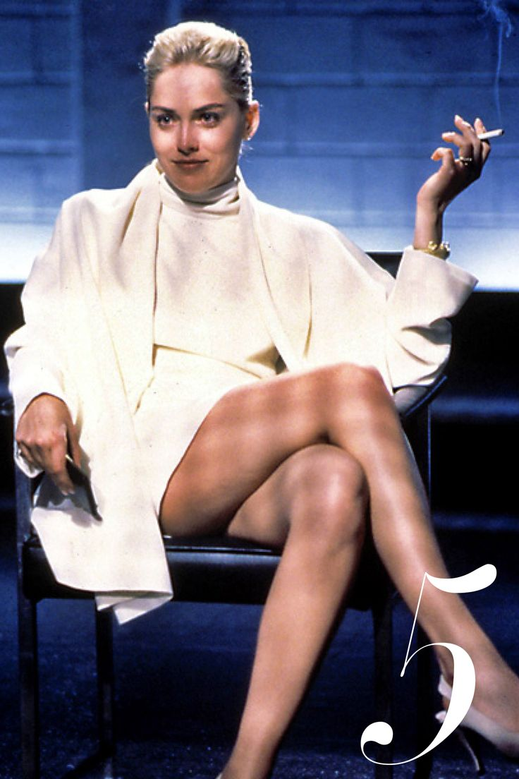 White is a sign of purity and innocence—making it the perfect choice for Sharon Stone's villainous character to wear the color throughout in 1992's Basic Instinct. Who says turtlenecks aren't sexy?   - HarpersBAZAAR.com