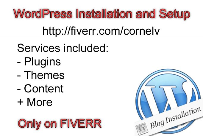 cornelv: install and configure WordPress for you for $5, on fiverr.com