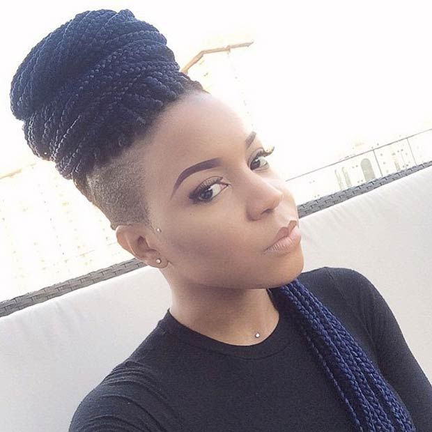 Shaved Hairstyles For Black Women Awesome 435 Best I Keep It Shaved Images On Pinterest  Hair Cut Short