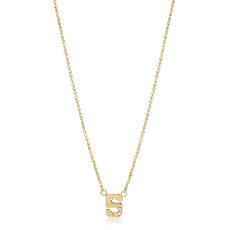 Totem 3 Diamond Initial Necklace 14k Gold