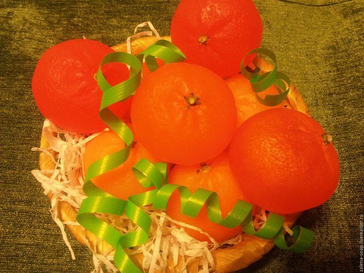 Купить Мандаринка сувенирное мыло - оранжевый, мыло сувенирное, мыло ручной работы