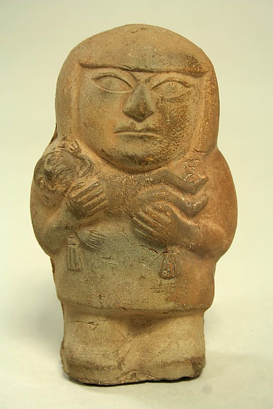 Figure of Mother Holding Child Date: 3rd–5th century Geography: Peru Culture: Moche Medium: Ceramic
