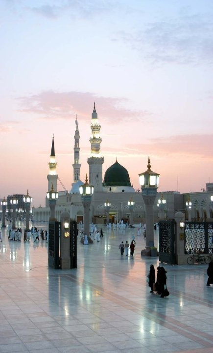 ☪ Al-Masjid an-Nabawī (Arabic: المسجد النبوي), also called the Prophet's Mosque, is a mosque established and originally built by the Islamic prophet Muhammad, situated in the city of Medina. Al-Masjid an-Nabawi was the second mosque built in the history of Islam and is now one of the largest mosques in the world. It is the second-holiest site in Islam, after al-Masjid al-Haram in Mecca.