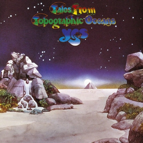 Yes - Tales from Topographic Oceans - 1973 That takes me back. My favourite 70's typeface
