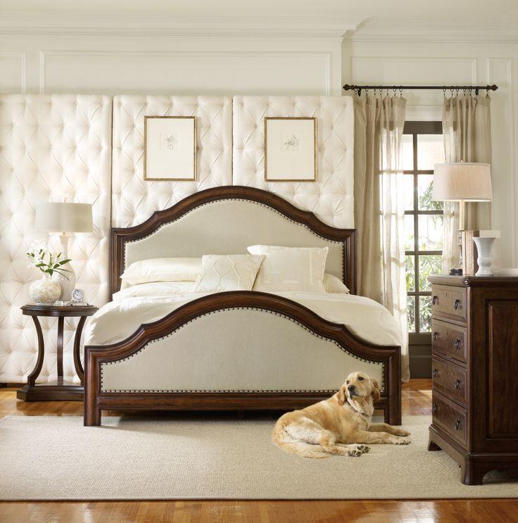 Hooker Furniture, Master Bedroom, Upholstered Bed, Wood