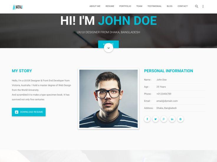 Best 25+ Material design website ideas on Pinterest Material - personal resume websites