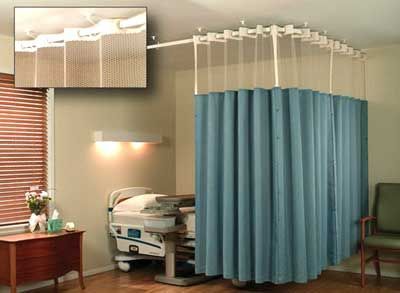 Hospital Curtain Track,Cubicle track, Hospital bed curtain ...