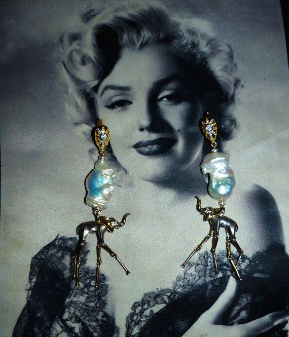 Handmade earrings the ELEPHANTS of DALI-3