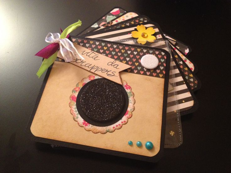 Mini ring album – Ale e Chiara punto scrap