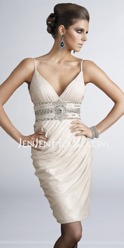 Cocktail Dresses - $139.99 - Short/Mini Ruffle  Beading Strapless Chiffon Cocktail Dresses With Sleeveless (016002945) http://jenjenhouse.com/Short-Mini-Ruffle--Beading-Strapless-Chiffon-Cocktail-Dresses-With-Sleeveless-016002945-g2945