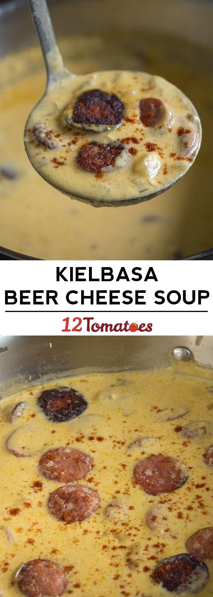 Kielbasa Beer Cheese Soup