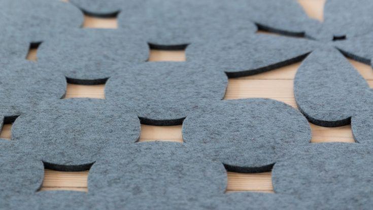 Flowerpot Fraster filt tæppe med små detaljer