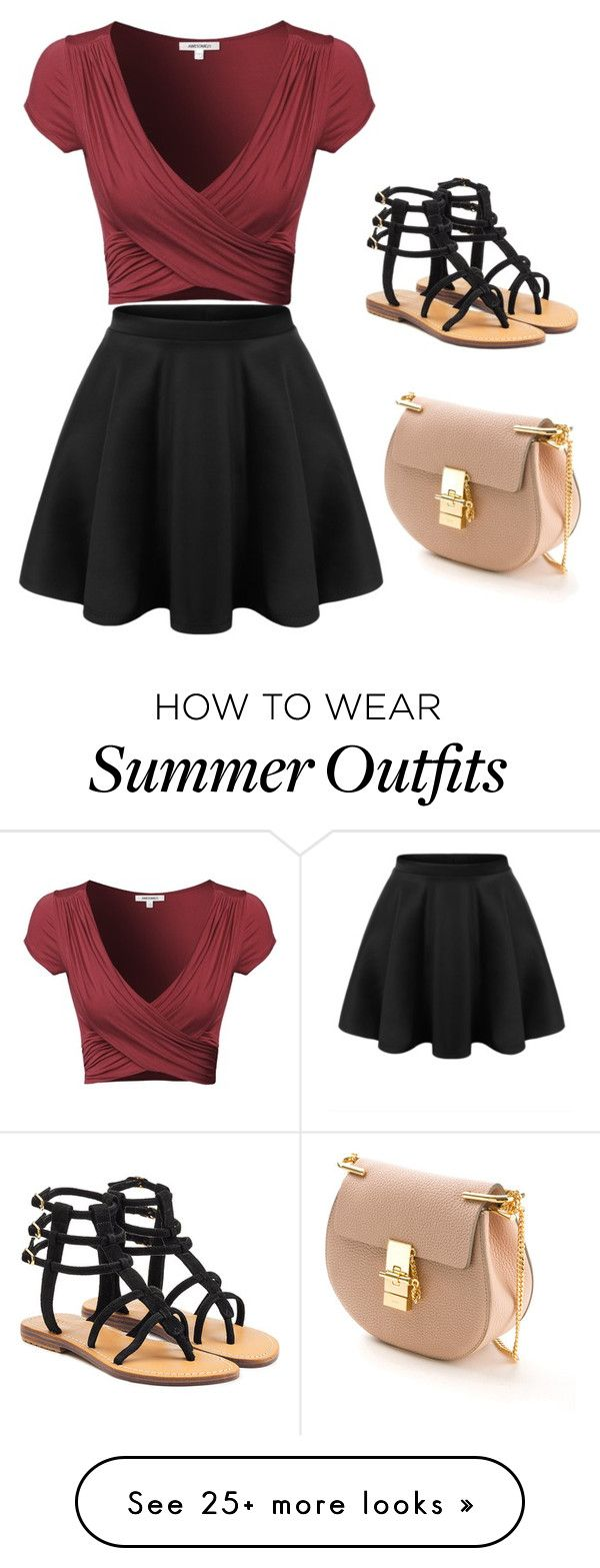 """""""Cute Summer Outfit"""" by lsantana13 on Polyvore featuring Mystique and Chloé"""