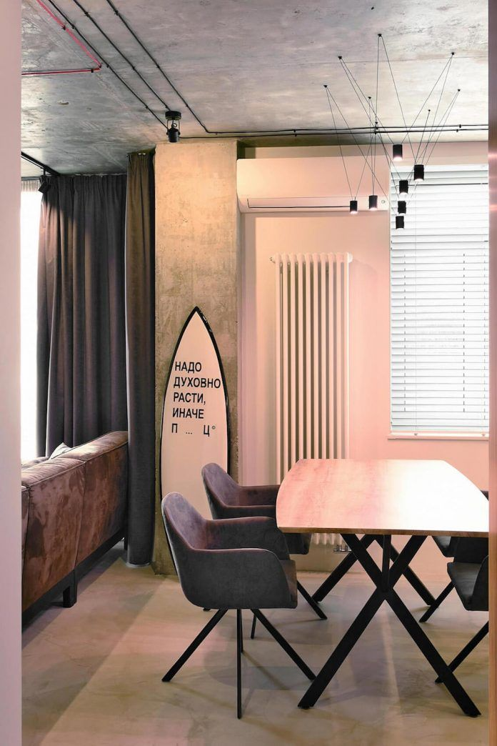 Tiny contemporary apartment in Kiev designed by Oleg Kuiava - CAANdesign