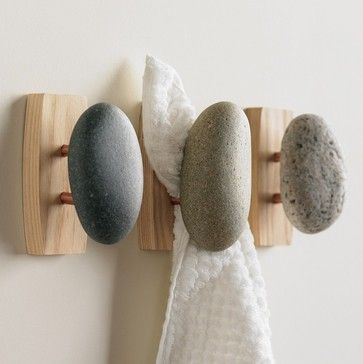Stone Towel Hook - eclectic - towel bars and hooks - VivaTerra