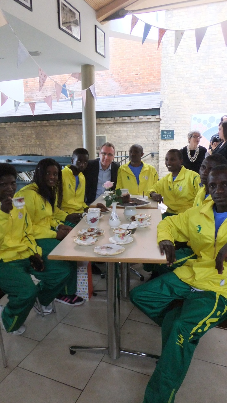 The #Rwanda team #teatime