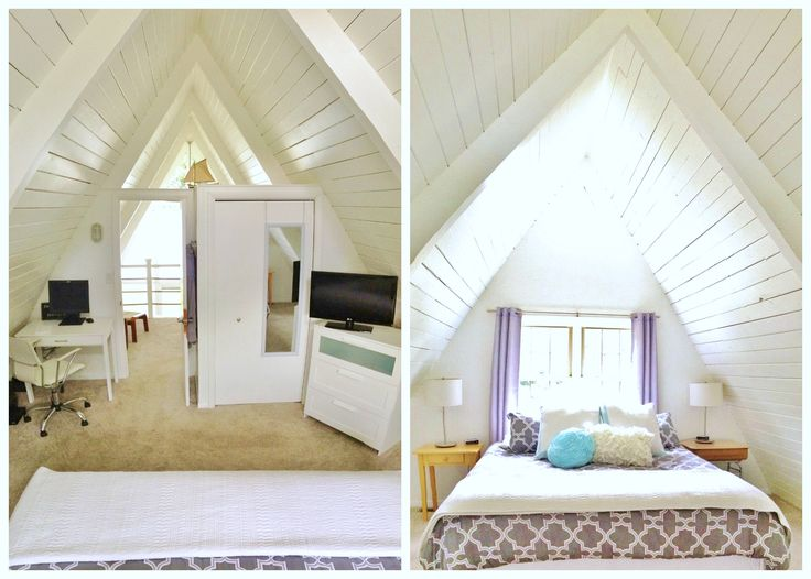 258 best ideas about a frame cottage on pinterest for Upstairs bedroom designs