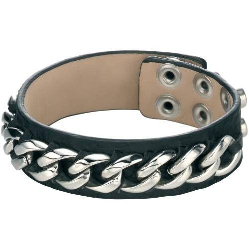 Fred Bennett Black Leather Cuff Bracelet #Jewellery