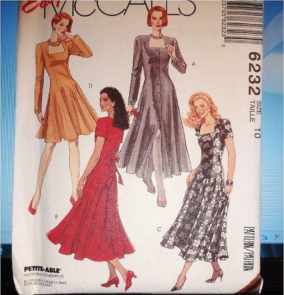 1982 Easy McCall's Dress Pattern size 10 by MyQuietTimeBooksPlus