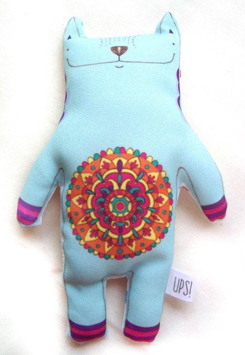 Muñeco Gatito Mandala -  Mandala Cat doll de JessicaIlustradora en Etsy
