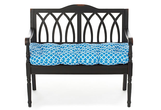 Holly 19x44 Bench Cushion Blue Bench Cushions Outdoor Pillow And Benches