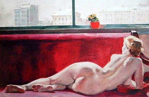 Alexander Deineka (1899 – 1969, Russian) - The Model