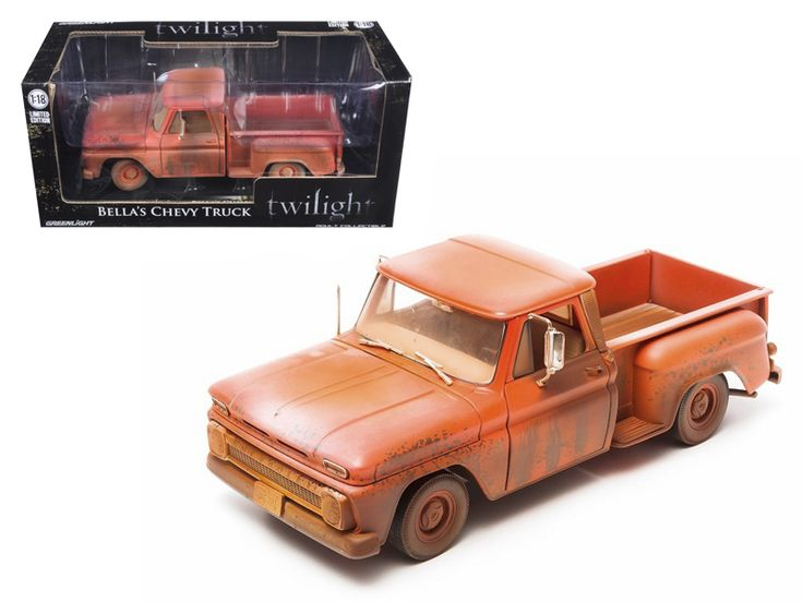 1963 Chevrolet Pickup Bella's Truck Twilight (2008 ) 1/18 Diecast Car Model by Greenlight - Brand new 1:18 scale diecast model of 1963 Chevrolet Pickup Bella's Truck Twilight (2008 ) die cast model car by Greenlight. Limited Edition 1 of 3504 Produced Worldwide. Has steerable wheels. Brand new box. Rubber tires. Has opening doors, hood and rear gate. Made of diecast with some plastic parts. Detailed interior, exterior, engine compartment. Dimensions approximately L-10.5, W-4, H-3.5…