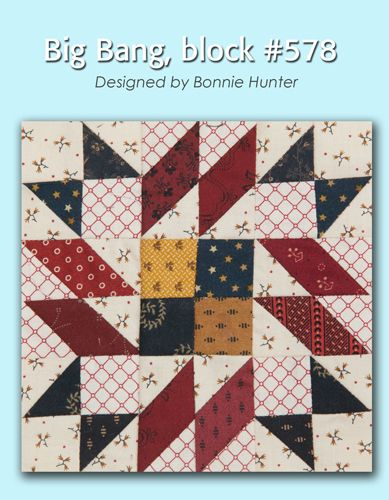 100 Blocks Sampler Sew Along Block 33: Big Bang designed by Bonnie Hunter #100BlocksSampler