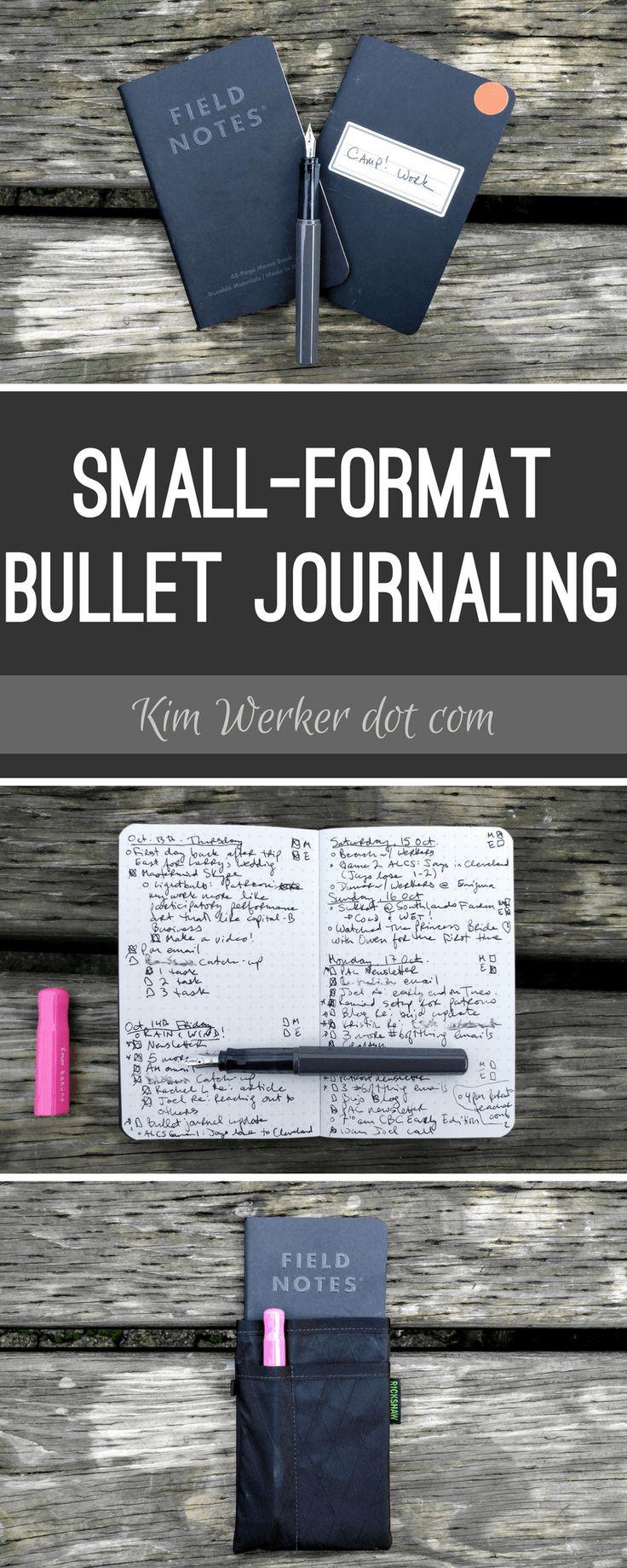 Small-format bullet journaling with PocketDojo and Field Notes – http://kimwerker.com/blog