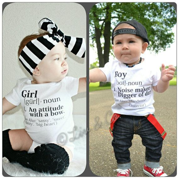 Hey, I found this really awesome Etsy listing at https://www.etsy.com/listing/174441772/funny-twin-clothes-boy-girl-twin-outfits