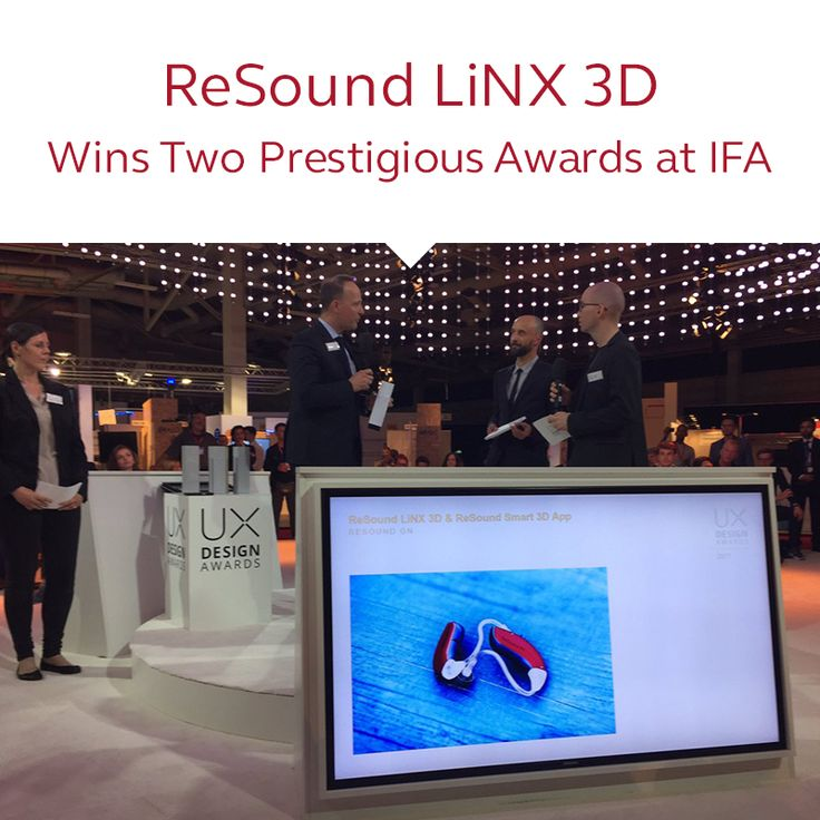 Newly Launched ReSound LiNX 3D Wins Two Prestigious Awards at IFA.  Recognizing ReSound's new hearing care experience for its innovation and design.  http://www.audiologyonline.com/releases/ newly-launched-resound-linx-3d-21227