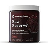 Amazing Grass Raw Reserve Green Superfood Organic Powder with 25 Billion Probiotics Wheat Grass and Greens Flavor: Berry 30 Servings