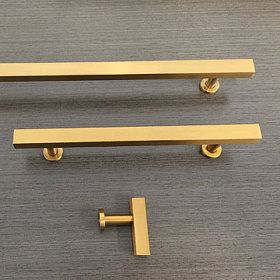 Elegant Modern Brass Cabinet Pulls