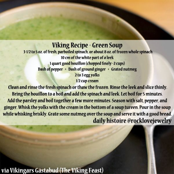 Have a cold? Feel better with some Viking Age Soups… More @facebook.com/rocklovefanpage