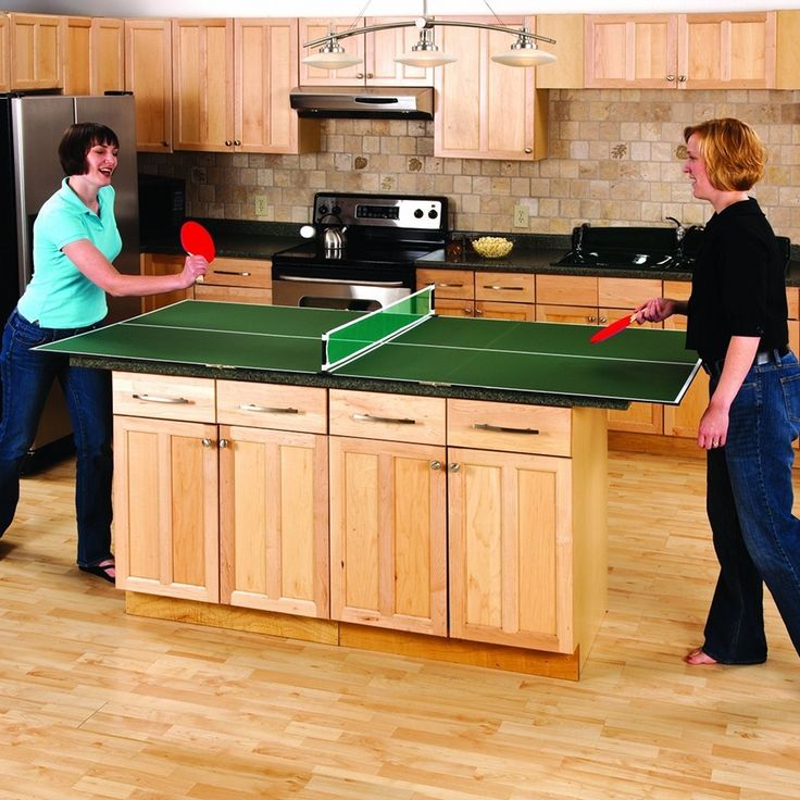 Portable Table Tennis Top - It allows you to convert almost any flat surface into a ping-pong table, including dining room tables, kitchen islands, pool tables, and table saw platforms.