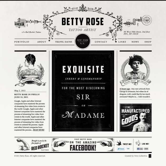 Betty Rose Tattoo Website | tattoos picture tattoo design websites