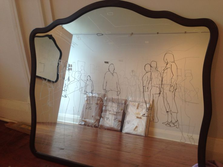 Mirror engraving by nz artist Odelle Morshuis