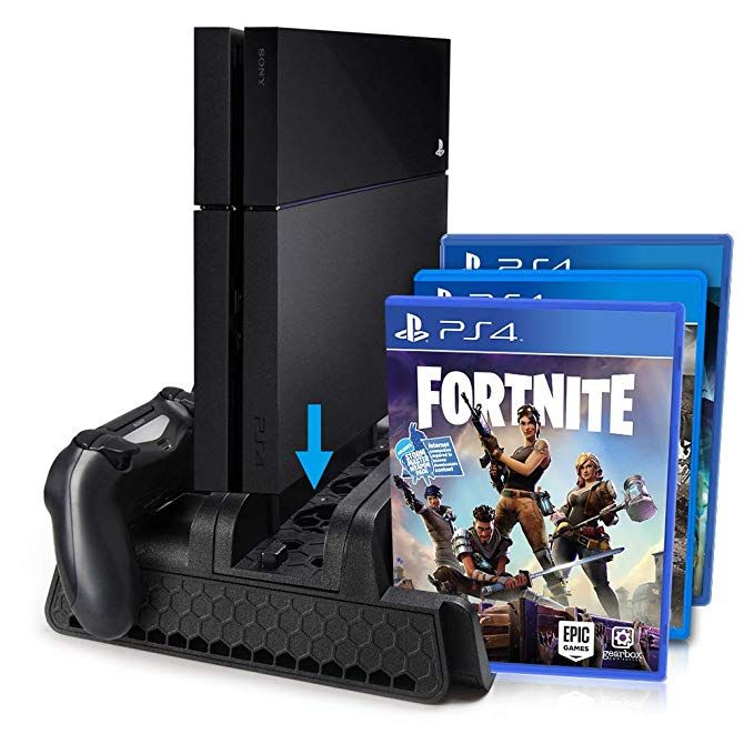 Ps4 Ps4 Slim Ps4 Pro Vertical Stand With Cooling Fan Cooler Twin