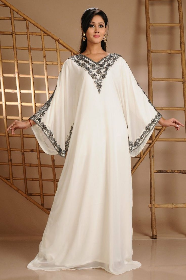 Princess White Islamic Dress Islamic Designer by Ethnicdresses, $155.45