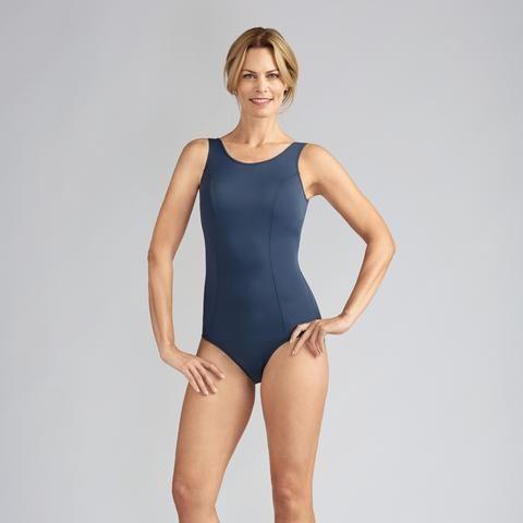 Amoena Rhodes Mastectomy Swimsuit - Dark Blue : 8 - 24