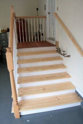 garage stairs with landing - Bing Images
