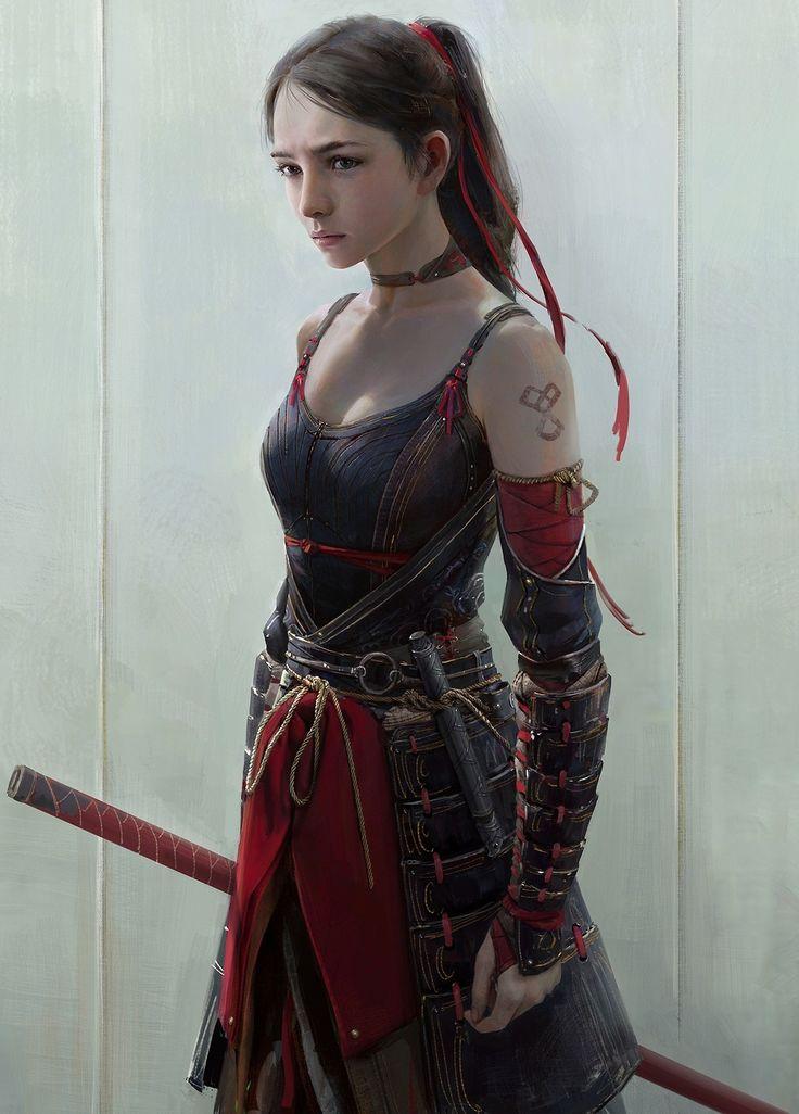 RPG Female Character Portraits : Photo. Young female Samurai