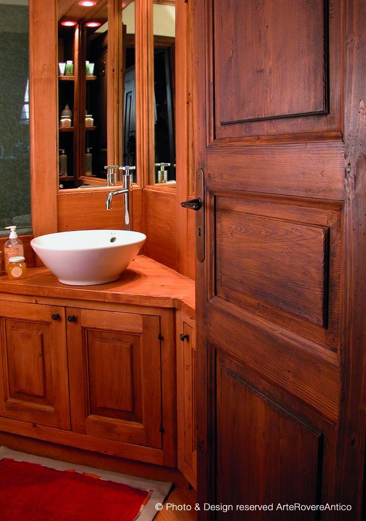 Arte Rovere Antico - Photo by Duilio Beltramone for Sgsm.it - Casa Chez Soi - Courmayeur Italy - Wood Interior Design
