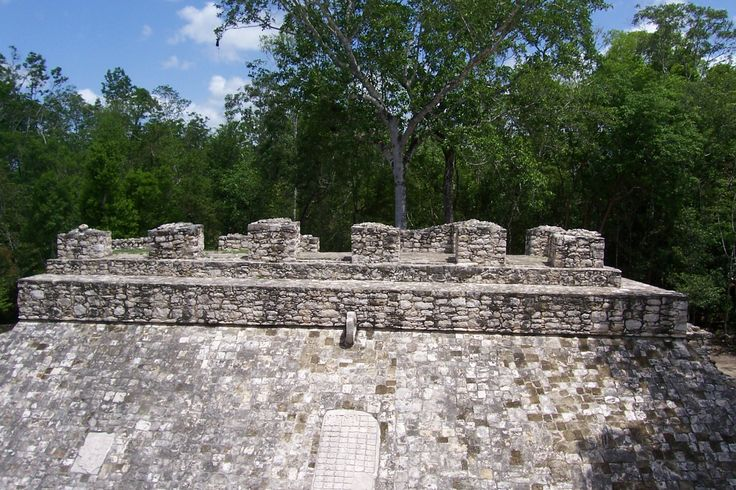 Coba ruin ,this is a ball court