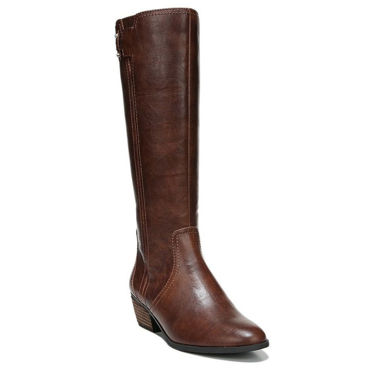 Dr. Scholl's Brilliance Women's Riding Boots, Size: 11 Wc, Dark Red
